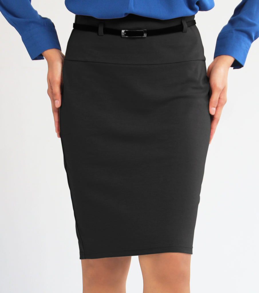 Caren Pencil Skirt With Belt