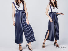 Load image into Gallery viewer, Leah High Waist Wide Leg Pants (Navy Blue)