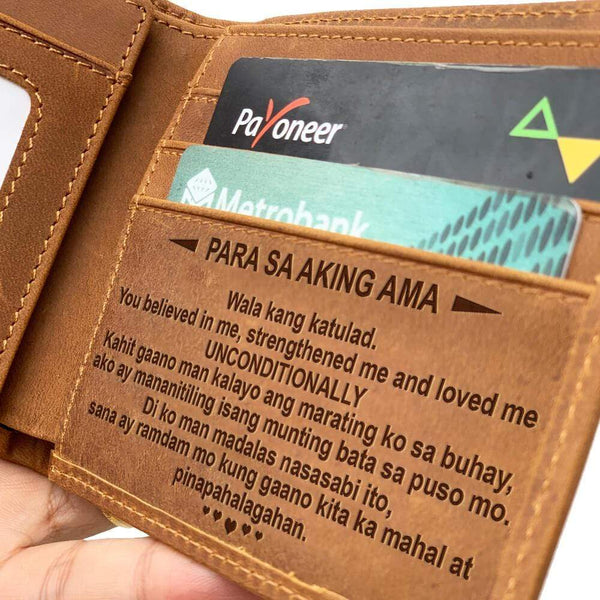 Para Sa Aking Ama - Genuine Leather Bi-fold Wallet - AQW02