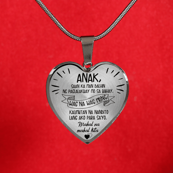 Para Sa Aking Anak - Limited Edition Heart Necklace - AQHN01