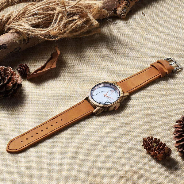Para Sa Aking Ina - Vanilla Rose Wood Watch - AQ15