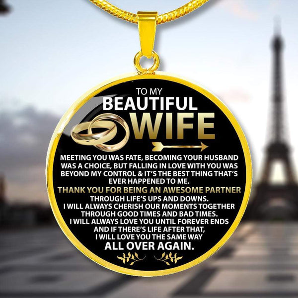 To My Beautiful Wife - Love Necklace - AQP01-G