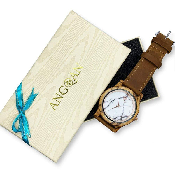 To My Beautiful Wife - Vanilla Rose Wood Watch - AQ24
