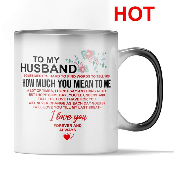 To My Husband - Color Changing Mug - MMAQ03
