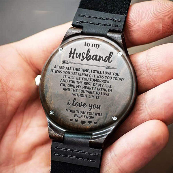 To My Husband - Wood Watch - AQ25