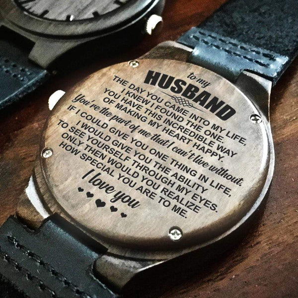 To My Husband - Wood Watch - AQ27