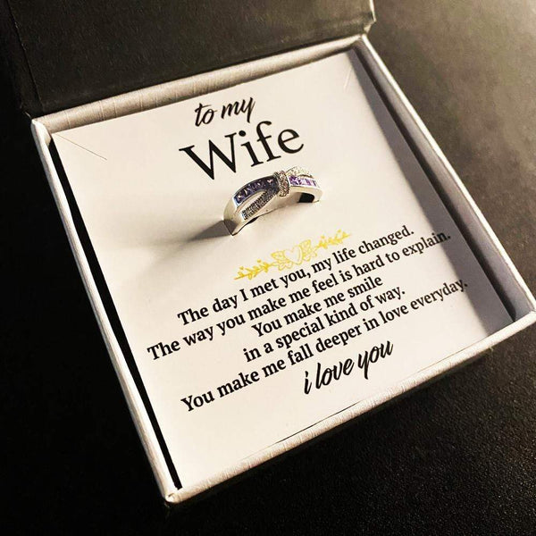 To My Wife - Mauve Love Infinity Ring