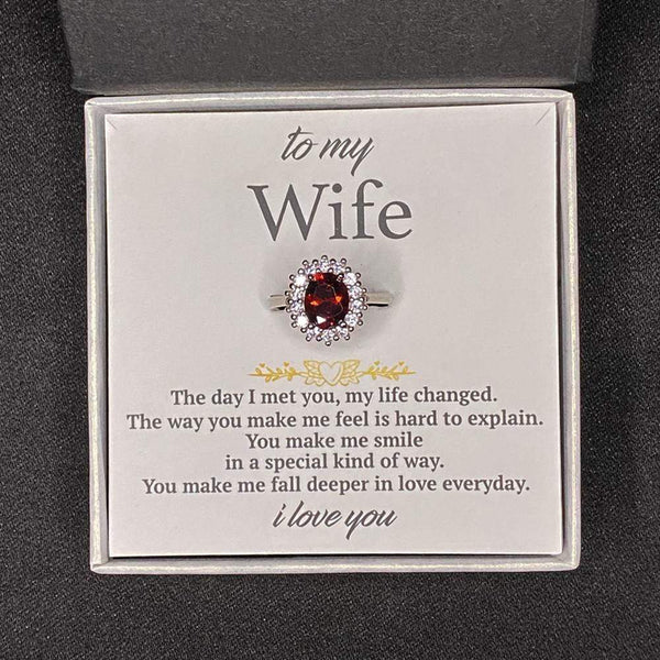 To My Wife - My Queen - S925 Love Ring
