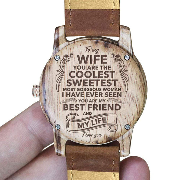 To My Wife - Wood Watch - AQ13 *Limited Edition