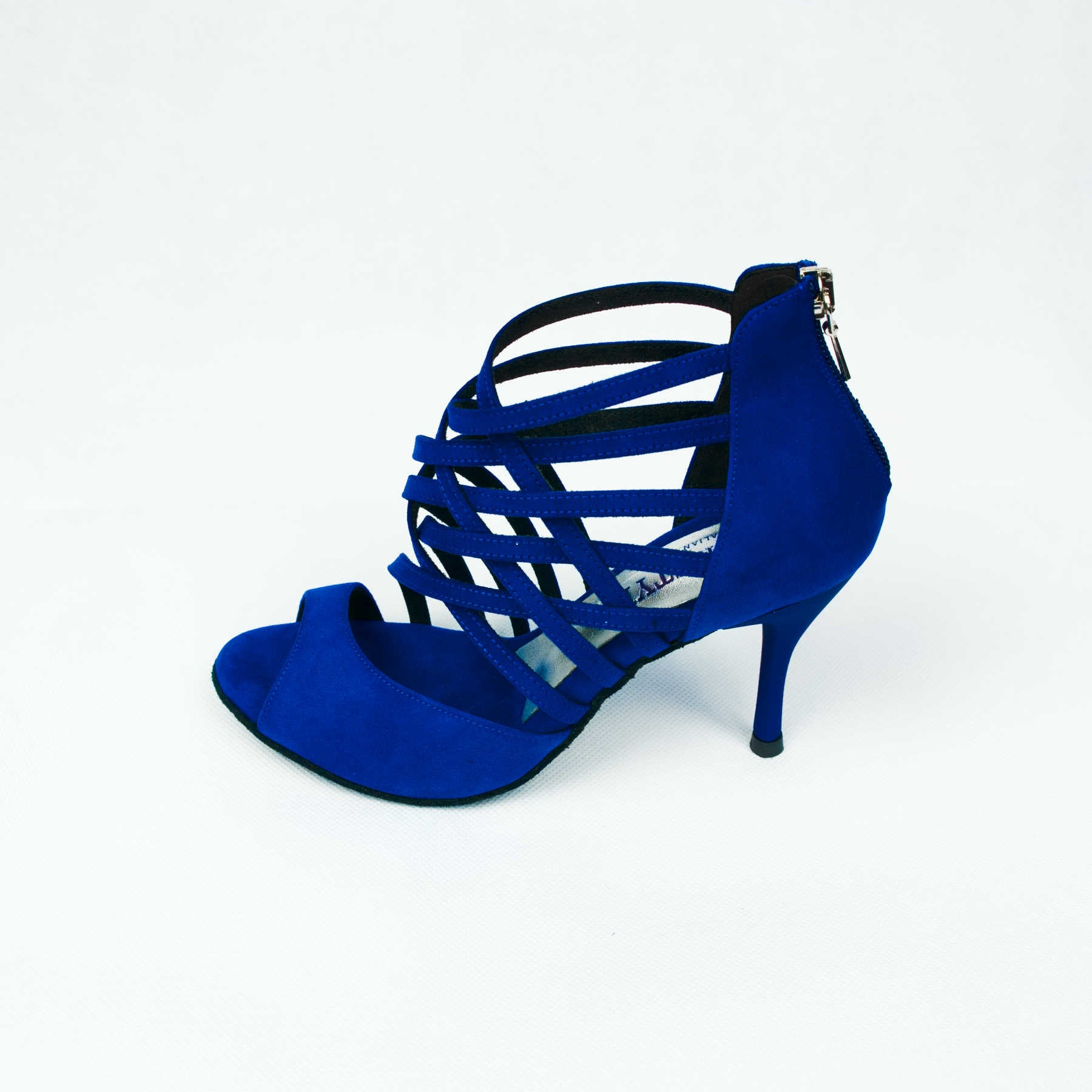 dance in style - madrid blue Italian made women dance shoe, 30 day return policy, flat rate shipping.