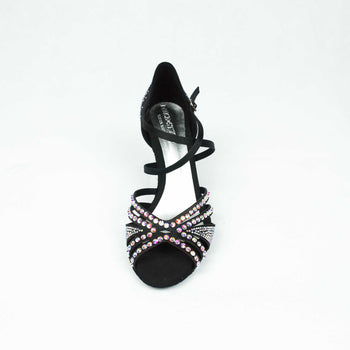 dance in style - milan black Italian made women dance shoe, 30 day return policy, flat rate shipping.