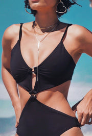 SWIMSUIT TRIANGLE BLACK