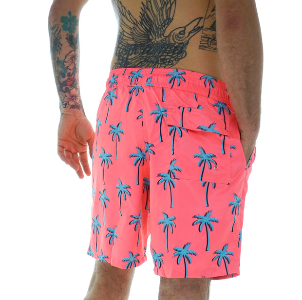 SWIM SHORTS NEON PALM TREES