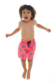 SWIM SHORTS NEON PALM TREES NIÑO