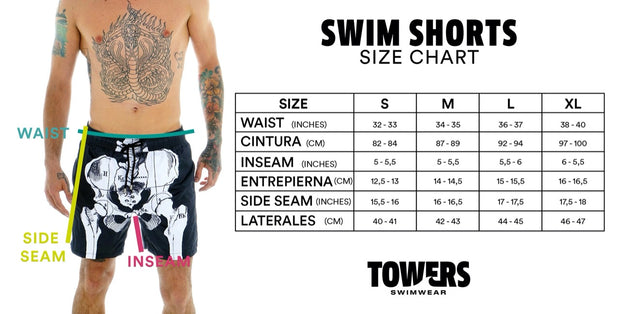 SWIM SHORTS BLACK LINES