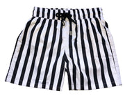 SWIM SHORTS BLACK LINES NIÑO