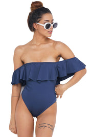 SWIMSUIT FLOUNCE RETRO