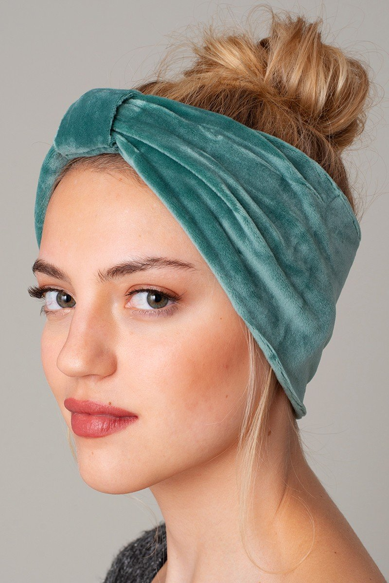 Velour Knotted Head Band - KAIT TYLER