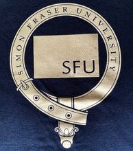Load image into Gallery viewer, SFU Pipe Band Metallic Crest T-Shirt