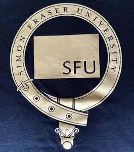 SFU Pipe Band Metallic Crest T-Shirt
