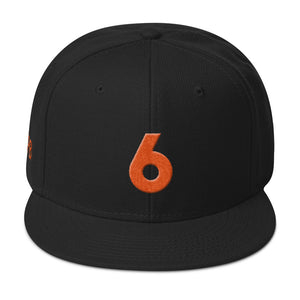 """6"" Embroidered Snapback Hat"