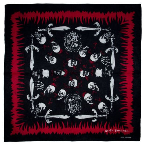 BANDANA DEATH WITH SKULLS AND SWORDS