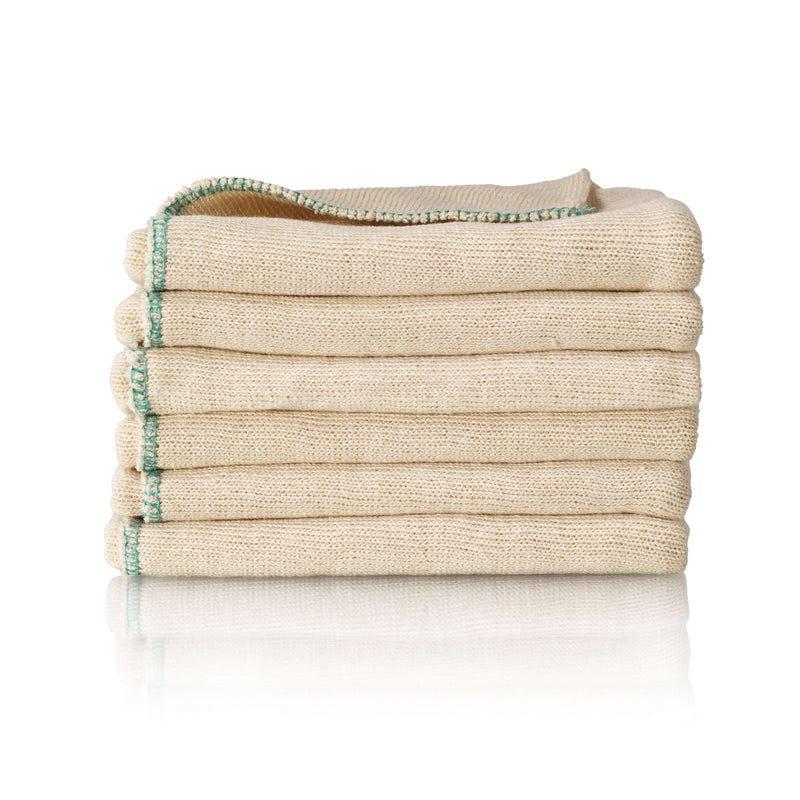 Cotton Stockinette Dishcloth 6 Pack
