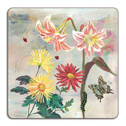 Flowers Lillies Square Placemat