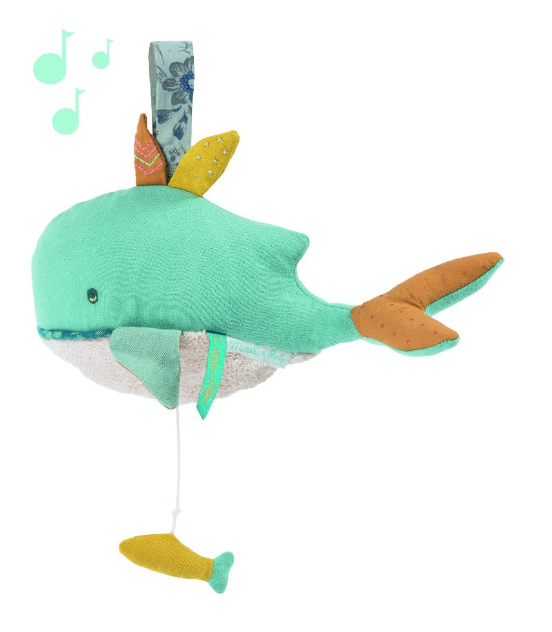 Moulin Roty Poupée Musique Baleine (Musical Whale)