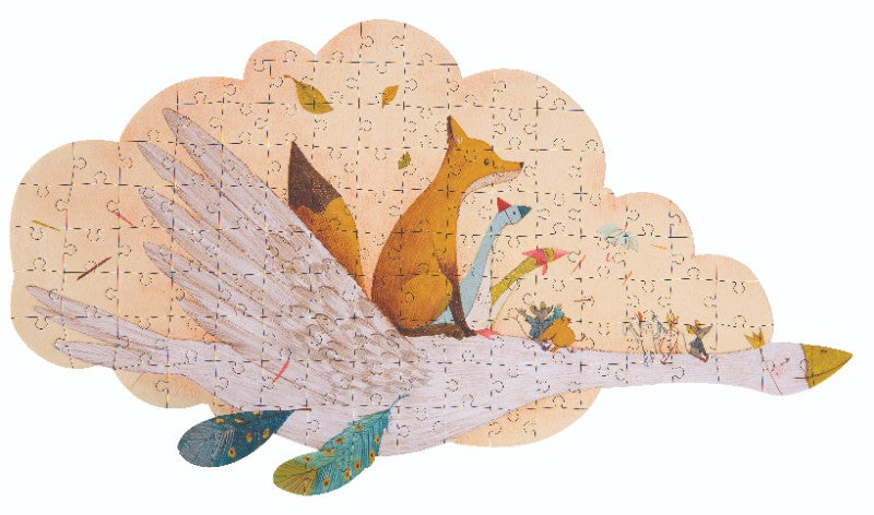 Moulin Roty Olga the Goose 124 piece jigsaw puzzle