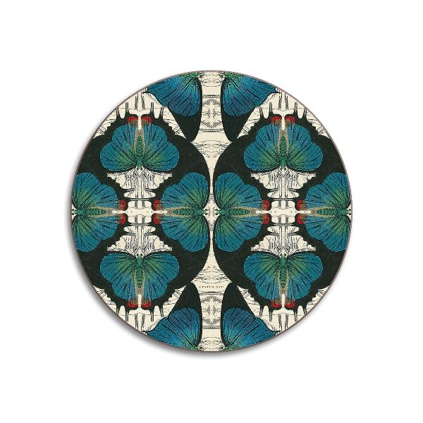 Blue Avenida Home Butterfly Design Coaster