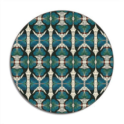 Blue Avenida Home Butterfly Design Round Placemat