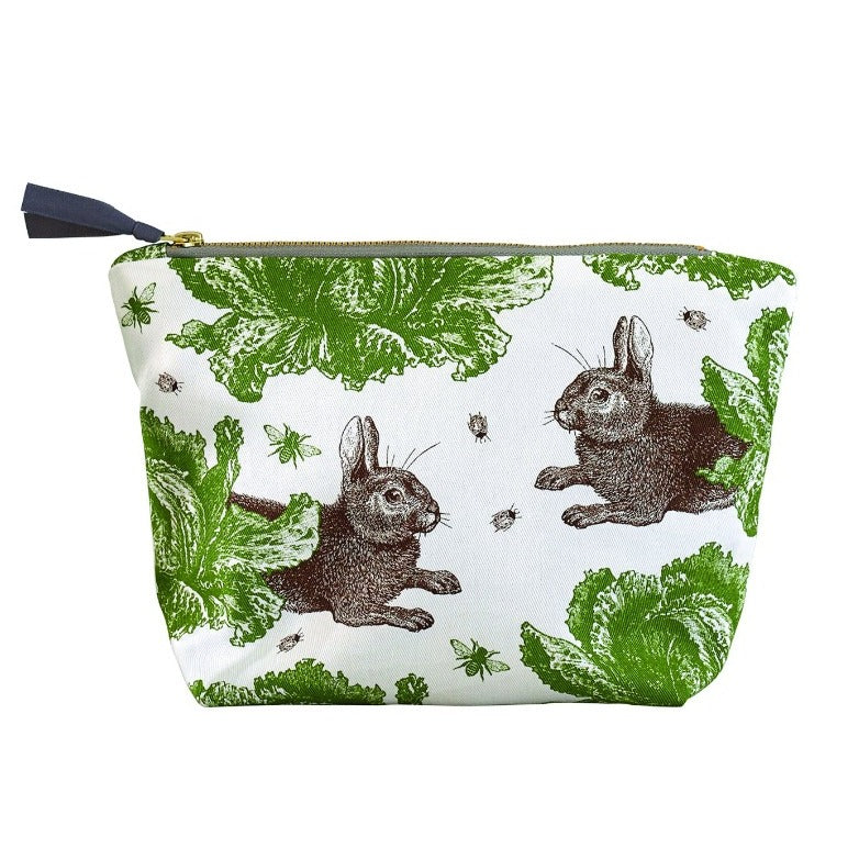 Rabbit & Cabbage Cosmetic Bag Large