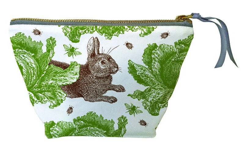 Rabbit & Cabbage Cosmetic Bag