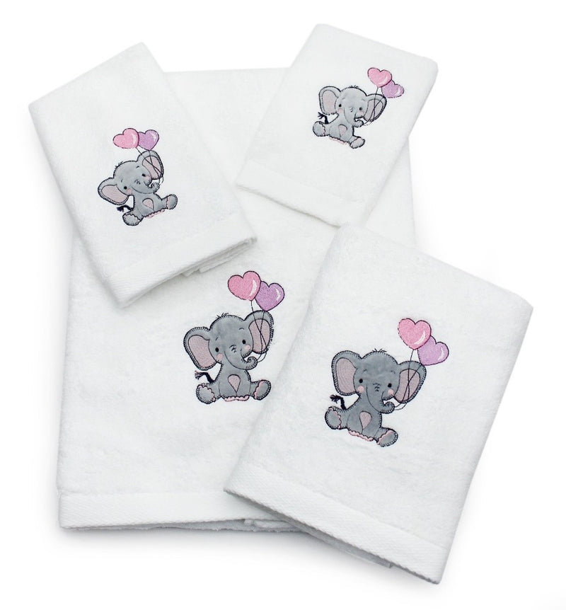 Children's Ellie Elephant Cotton Towel Collection
