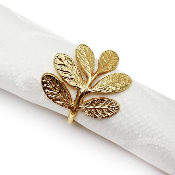 Peggy Wilkins Laurel Gold Napkin Ring