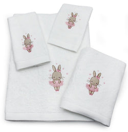 Children's Margot Rabbit Cotton Towel Collection