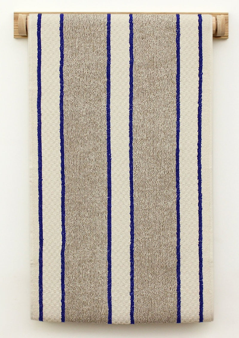Cotton Roller Towel - Blue Stripe