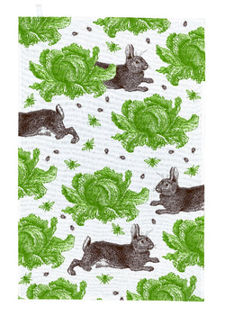 Thornback & Peel Rabbit & Cabbage Cotton Tea Towel
