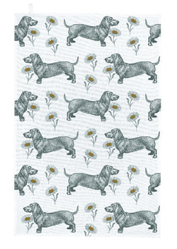 Thornback & Peel Dog & Daisy Tea Towel