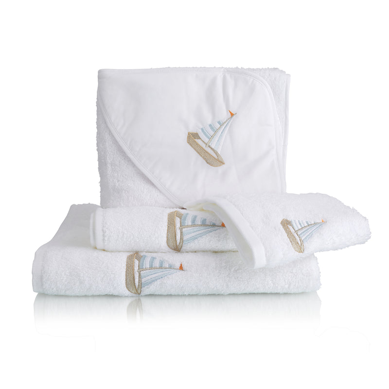 Children's Sailboat Cotton Towel Collection