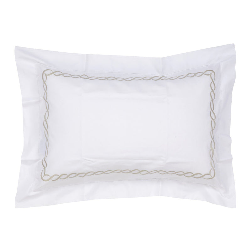 Woods Italian Classic Sorano Superfine white/Beige Oxford Pillowcase
