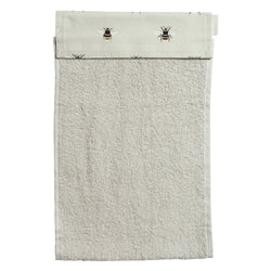 Sophie Allport Bees Cotton Roller Hand Towel. A plain beige roller hand towel with a lovely bee header.