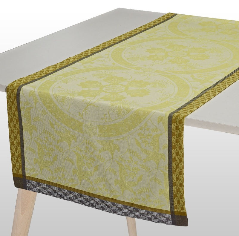 Duchesse Cotton Table Runner - Yellow