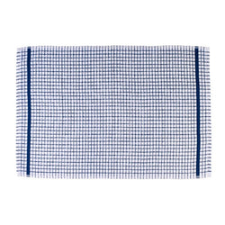 Terry Checked Tea Towel - Blue check