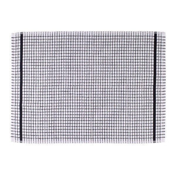 Terry Checked Tea Towel - Black check