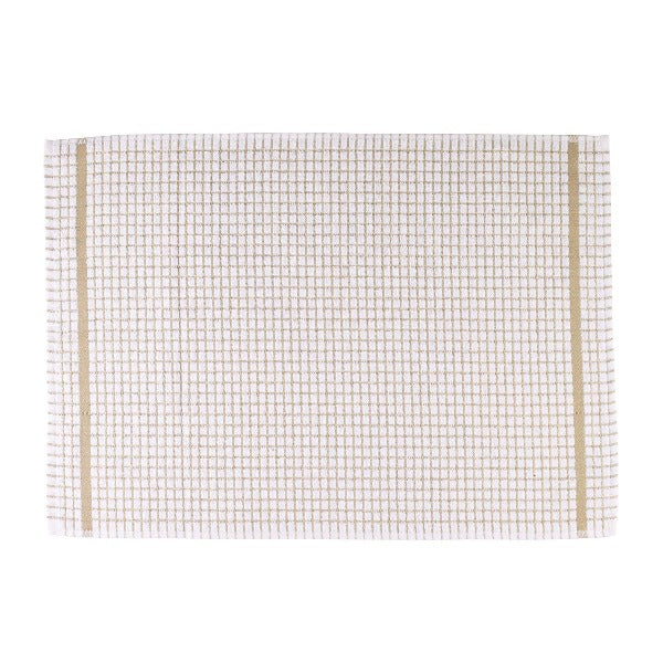 Terry Checked Tea Towel - Beige check