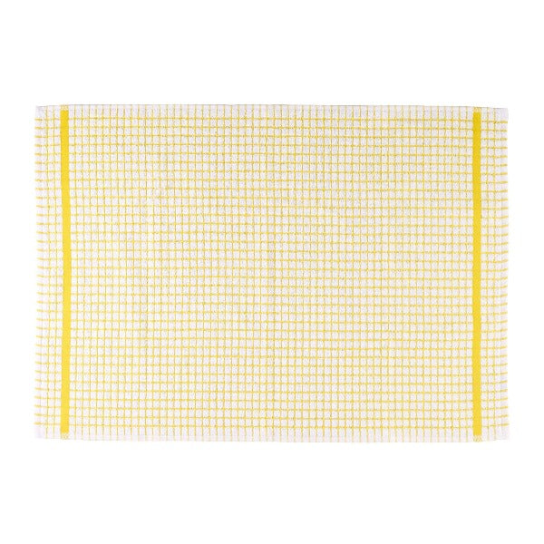 Terry Checked Tea Towel - Yellow check