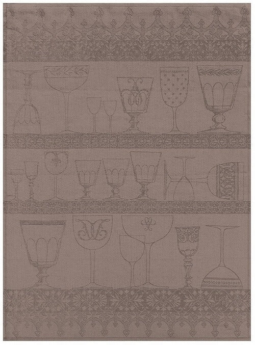 Cristal Black Pepper Linen Tea Towel
