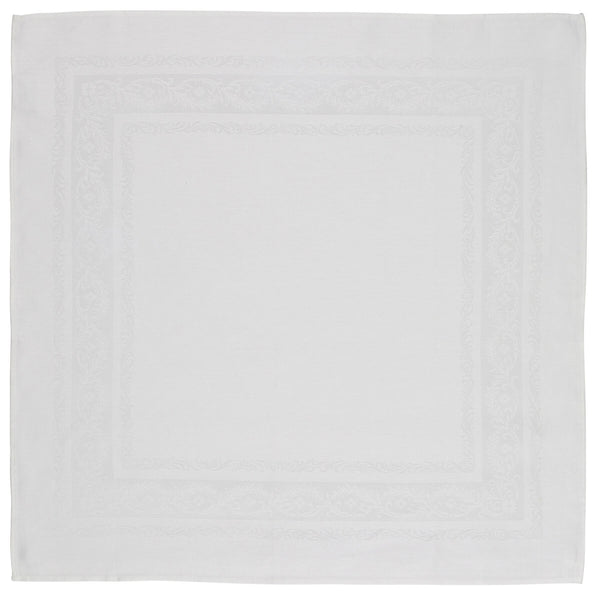 Irish Linen Double Damask Fine Scroll Tablecloth Collection